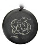 砭石生肖蛇圆佩